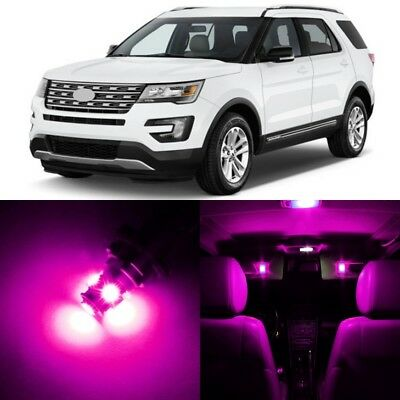 12 X Ultra PINK Interior LED Lights Package For 2011  2017 Ford Explorer  +TOOL