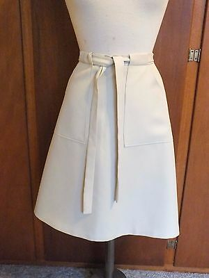 Retro Vintage Ladies Wrap Skirt. Beige.  Size 8-10