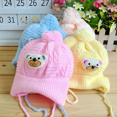 Cotton Beanie Knitted Hat For Newborn Kid Child Baby Boy Girl Soft Toddler Uylj