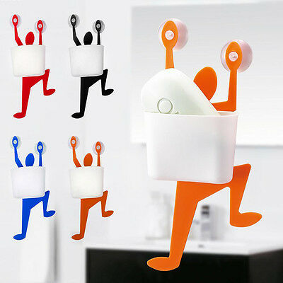 Funny Climber Shaped Suction Hooks Soap Dish Plate Home Bathroom Soap Hold Udww