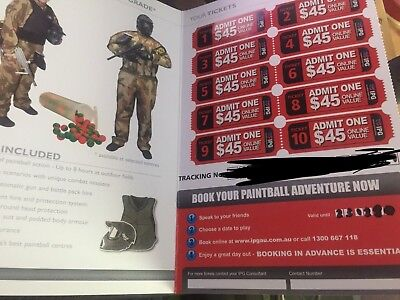 30 IPG AU Paintball Tickets - Saves $45 Per Person - Valid For 3 Years