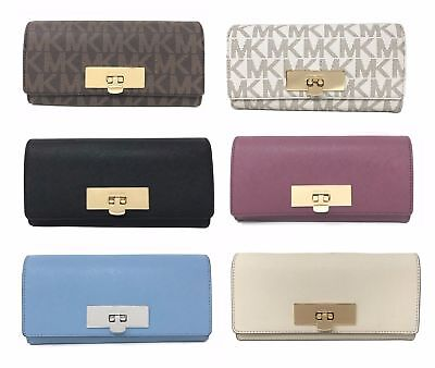 Michael Kors Callie Carryall Signature/Leather Women's Wallet (Select Color)