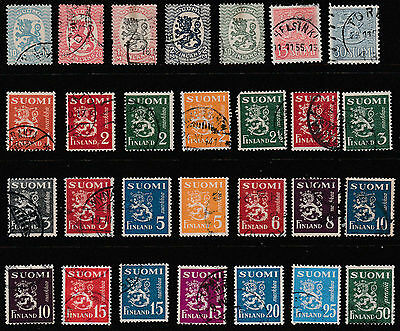 Finland - Early Selection - Used - 28 Stamps