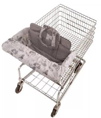 Eddie Bauer Boy Girl Baby Toddler Child Shopping Cart  High Chair Cover-Grey NEW