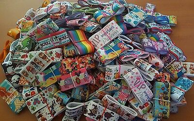 "ASSORTED CHILDREN 7/8 & 1""  RANDOM PIECES GROSGRAIN RIBBON  20 PIECES - 50cm"