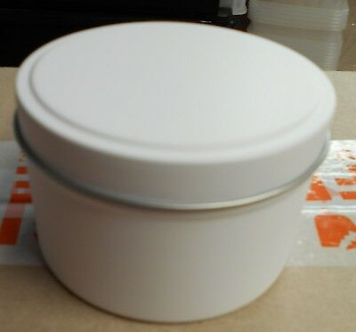 8oz White Candle Tins