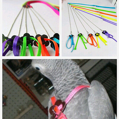 6 Color Bird Parrot Soft Harness Leash Anti-bite Training Ropes Adjustable Type