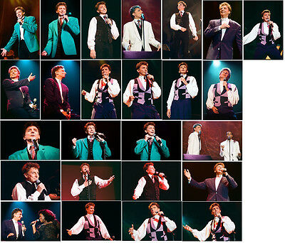 125 Barry Manilow colour concert photographs - Sheffield 1994