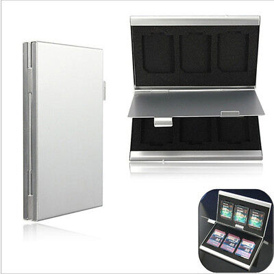 Memory Card  Protecter Aluminum Alloy Box Storage Case Cover Card  Holder