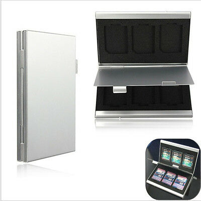 SD Memory Card  Protecter Aluminum Alloy Box Storage Case Cover Card  Holder