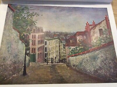 Maurice Utrillo Print 1935 Soviet Period Plate Rue Mont Cenis