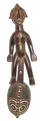 African Tribal Art Mossi Mask Carved Wooden Sculpture Burkina Faso 35""
