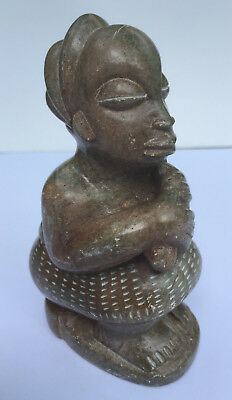 Vintage African/Latin American Carved Signed Figurine