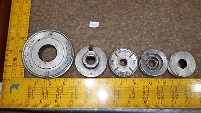 "Collection of 5  Pulleys  inc. 3½"" Picador, 2"" Pelikan + 3 Others   S351"