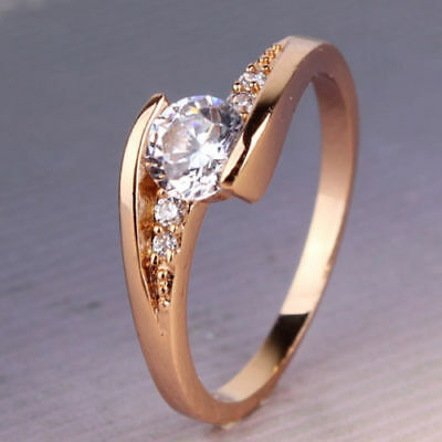 Magickal Love & Relationship Ring - 18k Gold Filled White Topaz Size 7 Ring