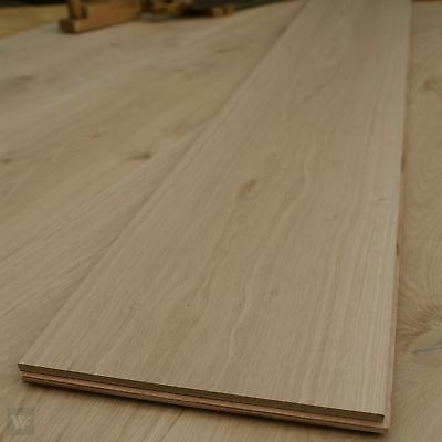 1Ft Wide Massive Engineered Oak Flooring - Long Boards - Unfinished ECH3 300mm