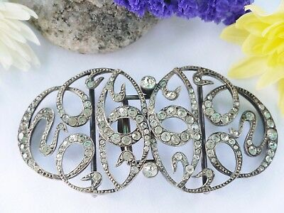 Gorgeous Antique Large Sterling Silver Buckle - Weight 55.6 Grams