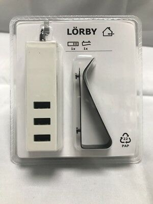 IKEA LORBY 3 USB PORT CHARGER WITH