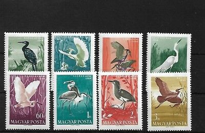 Hungary Sg1574/81, 1959 Waterbirds Mnh