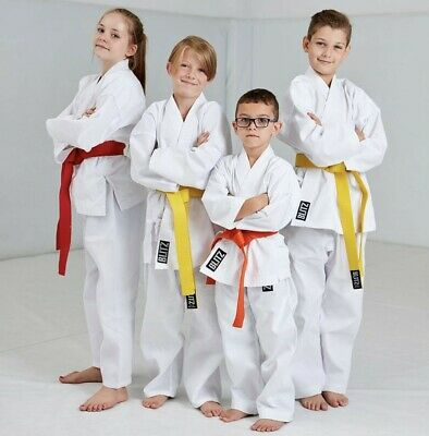 Blitz Kids Lightweight Polycotton White Karate Suit Gi Uniform