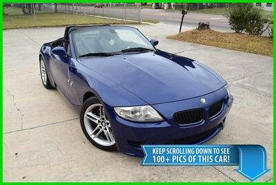 2007 Bmw Z4 Z4M Roadster - Rare - Service Recs - Best Deal On Ebay! Z4 M Convertible Coupe - Low Mileage - Rare Find - M3 Blue With Black Leather