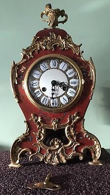 Boulle French Style Louis XV Mantel Gilt ClockWith Sun Face Pendulum 1973 Old?