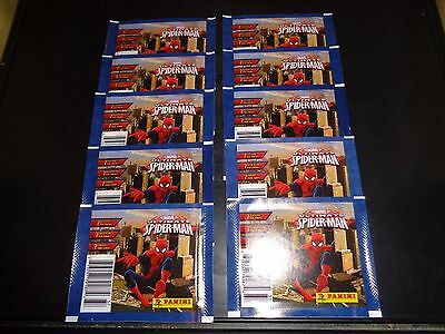 Spider-Man 2014 Panini 10 Pack Sticker Lot Factory Sealed 7 Per Pack