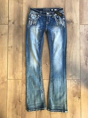 Miss Me Signature Bootcut With Feather Pocket New