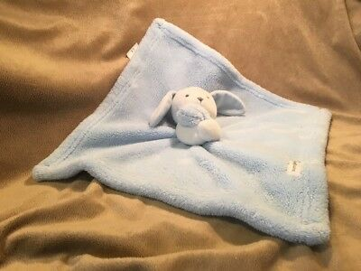 Blue White Bunny Rabbit Lovey Blankets & Beyond Nunu Security Blanket