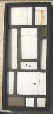 """Old Wood Case-Rocks?/Insects w/ Glass-9.25""""x21.25"""" Black"""