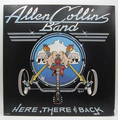 "Allen Collins Here, There & Back 1983 Promo 12"" x 12"" LP Display Flat  Skynyrd"