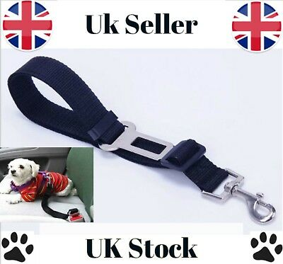 New Dog Pet Adjustable Car Seat Belt Safety Harness Travel Restraint Lead UK