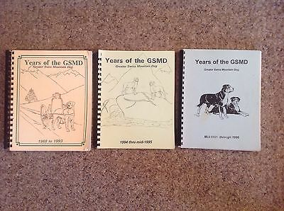 3 VERY RARE Editions of the YEARS of the Greater Swiss Mountain Dogs 1968-1996