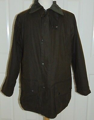 BOSMERE Made in England  Waxed Cotton Quilt Plaid Lined Jacket  Men's Size XL