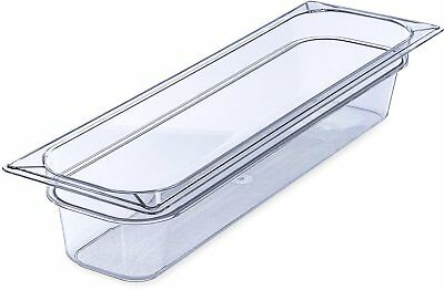 Carlisle 10241B07 Gastronorm Polycarbonate One-Half Long Size Food Pan, 5.1 qt.