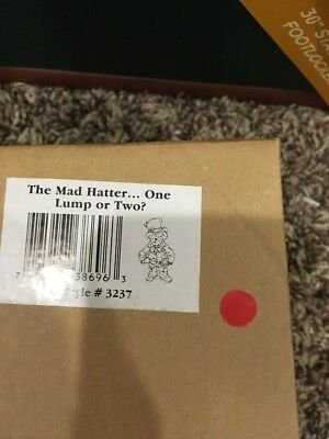 Boyds Shoe Box Bear The Mad Hatter  #3237 NIB- 2005 Retired 1E New In Box