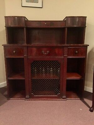 Antique cabinet in dark wood