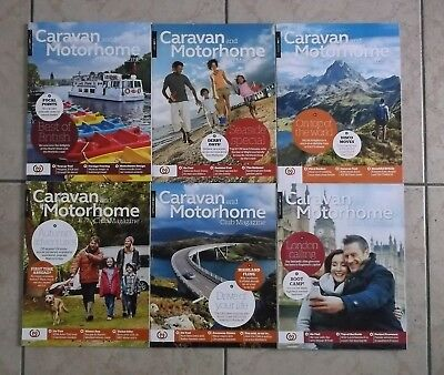 Joblot Bundle 6 Caravan and Motorhome Club Magazines From June to November 2017