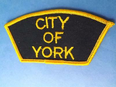City Of York  Employee Hat Jacket Patch Vintage Ont Canada Souvenir Collector