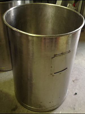 55 Gallon Stainless Steel Barrel/ Drum Open Top (55 lbs.)