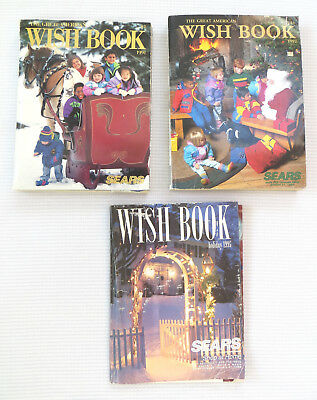 Sears Wish Book Christmas Toy Doll Catalog Lot of 3 1991 1992 1996 Gr8 Reference