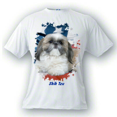 Shih  Tzu # 2   Stars & Stripes  Custom  PERSONALIZED  Pet  T shirt