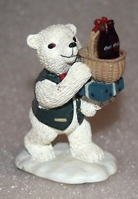 "EUC 1995 Coca-Cola Polar Bear Cubs 'Enjoy!"" Figurine"