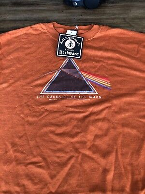 Rockware STYLIZED Subtle PINK FLOYD dark side of the Moon Shirt LARGE NWT
