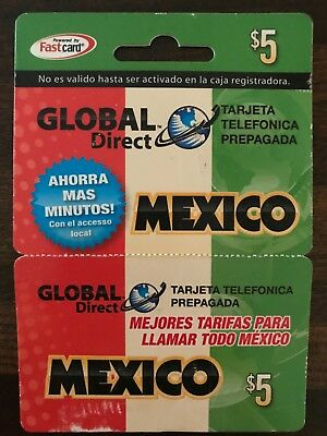Global Direct Mexico Calling Card $5 - never used