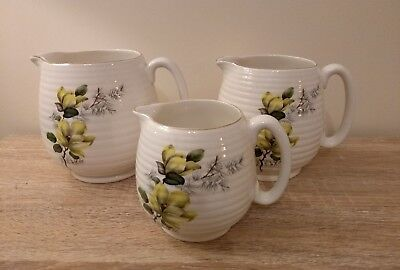 Vintage Beswick Set Of 3 Jug Vases