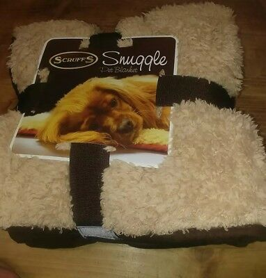 2 x Scruffs Pet Snuggle Comfort Blanket Dog Cat Duvet Reversable Brown and Red