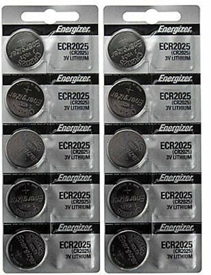 Lot of 500 FRESH Genuine Energizer CR2025 2025 3V Coin Button Batteries
