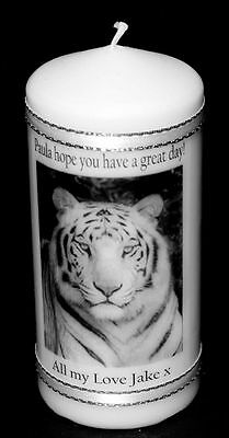Personalised White Tiger Gift Unique Keepsake Present #