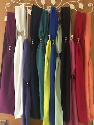 Multi Style Plain Chiffon Scarves With Magnetic Ends** By Artydee Creations